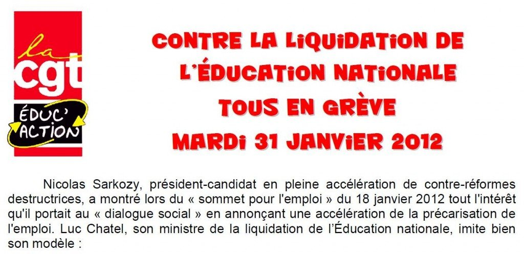 EDUCATION NATIONALE - Manifestation 31 janvier 2012 - Lille dans Actions_nationales manif-sden-31-janv-20121-1024x496