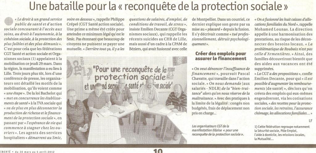 Protection sociale - Conférence de presse dans Action sociale reconqu%C3%AAte-de-la-protection-sociale-1024x495