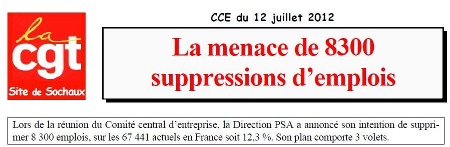 PSA - 8 300 emplois menacés en France dans DELOCALISATION psa