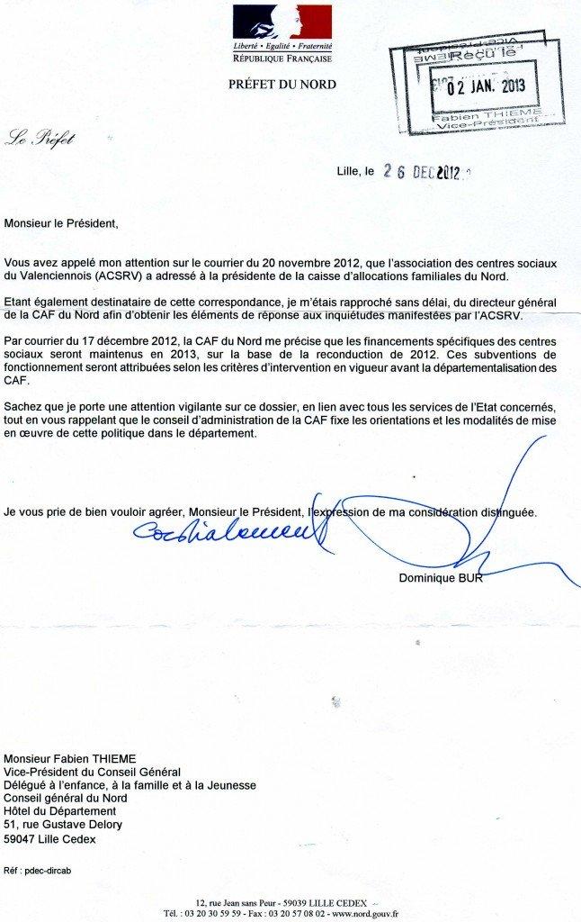 Caf Maubeuge Declaration